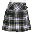 Traditional Dress Gordon Tartan Scottish Mini Billie Kilt Mod Skirt 38 Fit to Waist