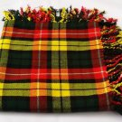 Highland Buchanan Tartan Fly Plaid 48x48 Brand New Kilt Piper Fly plaid.