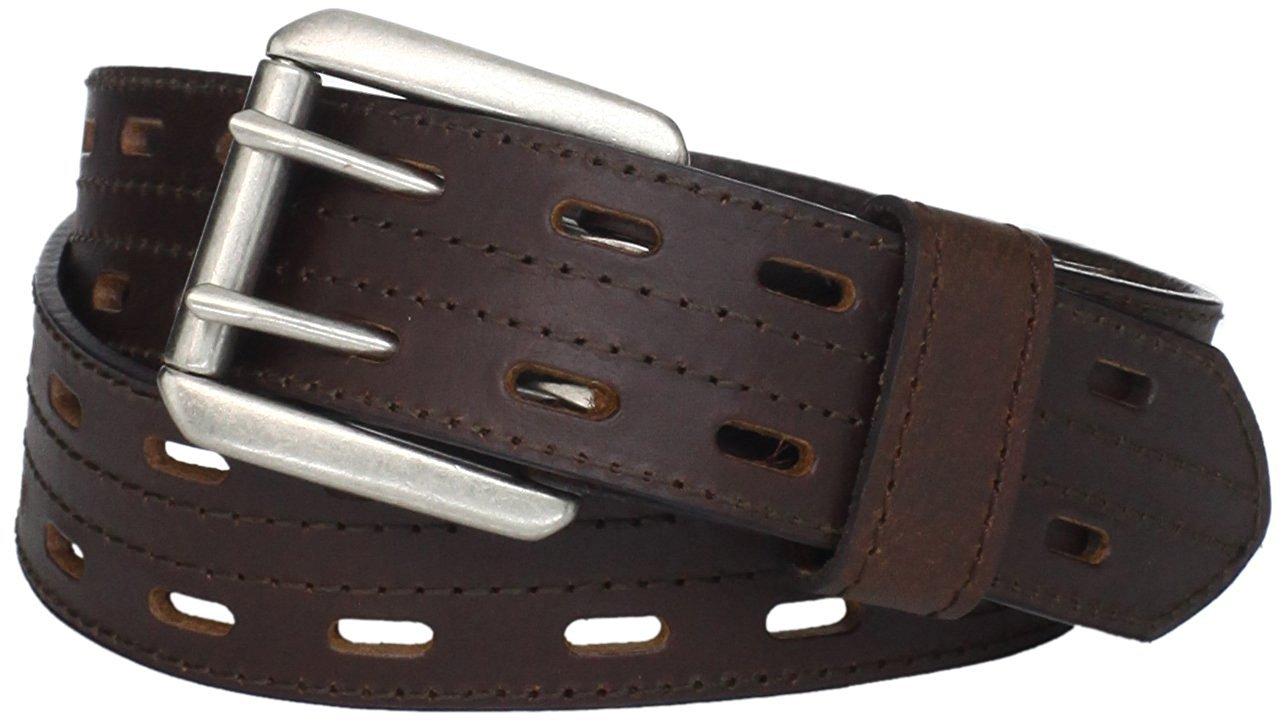 Highland Scottish Brown Kilt Belt Custom Size Double Prong Kilt Belt with Buckle
