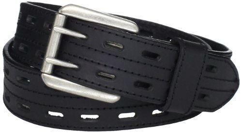 Highland Scottish Thick Black Kilt Belt 46 Size Double Prong Kilt Belt with Buckle
