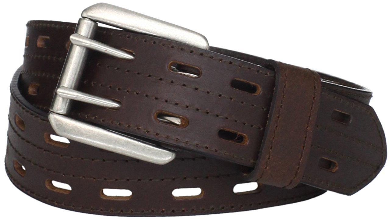 Highland Scottish Brown Kilt Belt 48 Size Double Prong Kilt Belt with Buckle