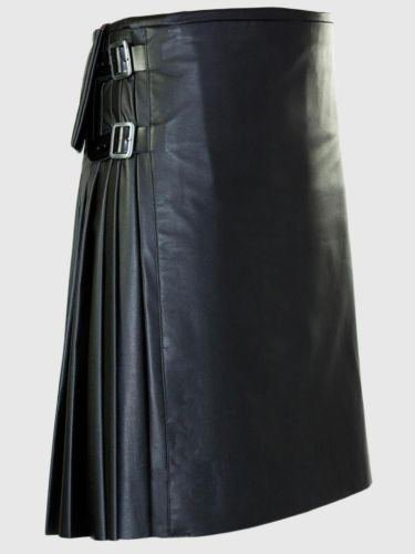 Pure Cowhide Leather Kilt 40 Size Highland Utility Kilt Handmade Scottish Unisex Adult Kilt