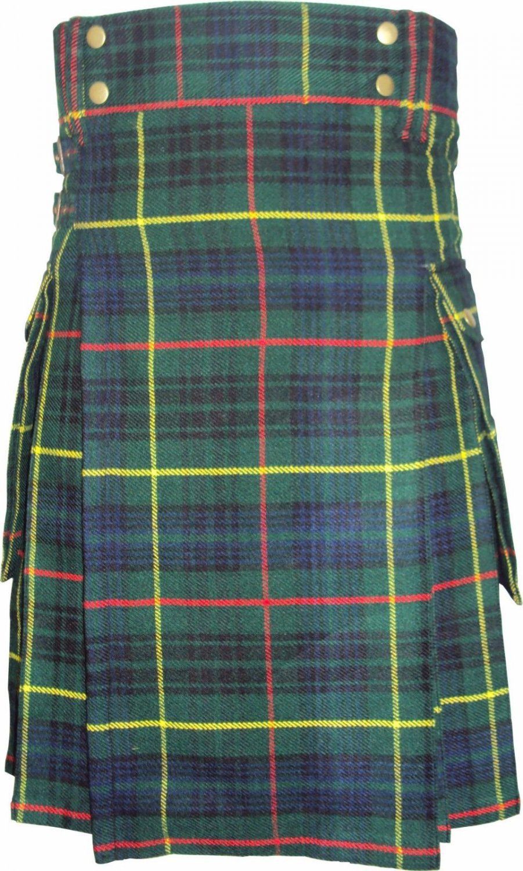 38 Size Active Men Hunting Stewart Tartan New Kilt with Modern Pockets Scottish Highland Kilt