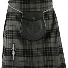 Size 36 Men's 8 Yard Scottish Highland Gray Watch Tartan kilt Gray Watch Utility Kilt