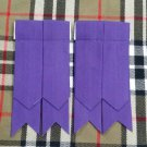 Brand New Scottish Kilt Hose Sock Purple Cotton Flashes