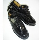 Size 7 Uk Highland Kilt Black Leather Shoes Ghillie Brogues Leather Sole And Leather Upper