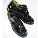 Size 8 Uk Highland Kilt Black Leather Shoes Ghillie Brogues Leather Sole And Leather Upper