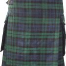 Black Watch Modern Utility Tartan Kilt for Active Men Scottish Deluxe Utility Kilt