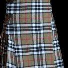 30 Size Scottish Utility Tartan Kilt in Camel Thompson Modern Highland Kilt for Active Men