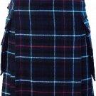 46 Size Scottish Utility Tartan Kilt in Mackenzie Modern Highland Kilt for Active Men