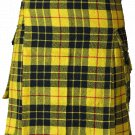 56 Size McLeod of Lewis Highlander Utility Tartan Kilt for Active Men Scottish Deluxe Utility Kilt