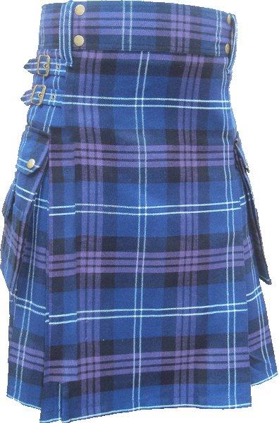 30 Size Pride Of Scottland Utility Tartan Kilt for Active Men Scottish Deluxe Utility Kilt