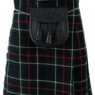 30 Size MacKenzie Scottish 8 Yard 10 oz. Highland Kilt for Men Tartan Kilt