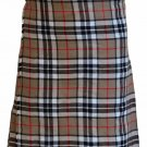 58 Size Scottish 8 Yard 10 Oz. Tartan Kilt in Camel Thompson Tartan Kilt Highland Traditional Kilt