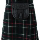 Highland Kilt for Men Tartan Kilt 34 Size MacKenzie Scottish 5 Yard 10 oz.