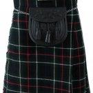 Highland Kilt for Men Tartan Kilt 60 Size MacKenzie Scottish 5 Yard 10 oz.
