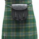 Highland Kilt for Men Irish Tartan Kilt 30 Size Irish National 5 Yard 10 oz. Scottish Kilt