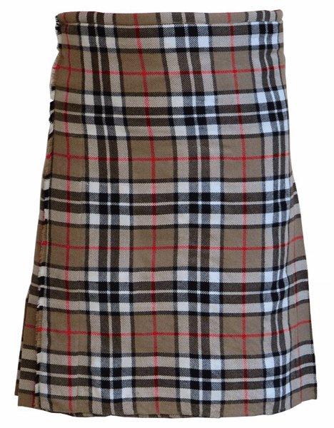 Tartan Kilt in Camel Thompson Kilt Highland Traditional Kilt 26 Size Scottish 5 Yard 10 Oz. Kilt