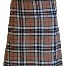 Tartan Kilt in Camel Thompson Kilt Highland Traditional Kilt 52 Size Scottish 5 Yard 10 Oz. Kilt