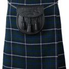 Tartan Kilt in Blue Douglas Kilt Highland Traditional Kilt 36 Size Scottish 5 Yard 10 Oz. Kilt