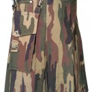 Deluxe Heavy Duty Camouflage Kilt 42 Size Unisex Outdoor Utility Kilt Tactical Kilt