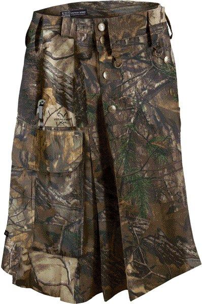 Deluxe Real Tree Camouflage Kilt 34 Size Unisex Outdoor Utility Kilt Tactical Kilt