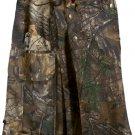 Deluxe Real Tree Camouflage Kilt 38 Size Unisex Outdoor Utility Kilt Tactical Kilt