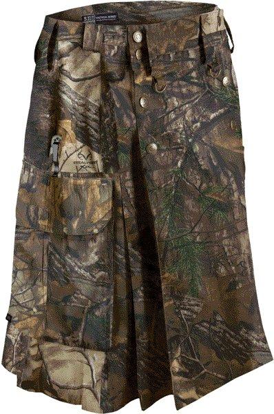Deluxe Real Tree Camouflage Kilt 46 Size Unisex Outdoor Utility Kilt Tactical Kilt