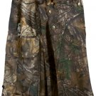 Deluxe Real Tree Camouflage Kilt 48 Size Unisex Outdoor Utility Kilt Tactical Kilt