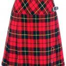 Ladies Billie Pleated Long Kilt 26 Size Waist Knee Length Long Skirt in Wallace Tartan