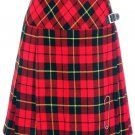 Ladies Billie Pleated Long Kilt 42 Size Waist Knee Length Long Skirt in Wallace Tartan