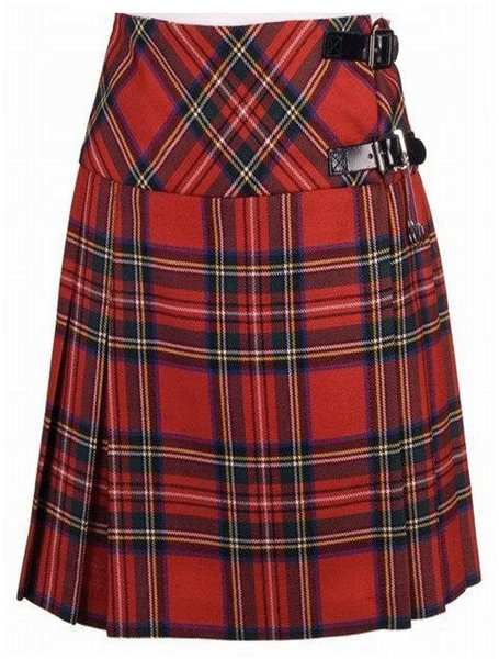 Ladies Knee Length Kilted Skirt, 60 waist size Stewart Royal Skirt