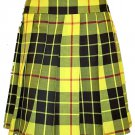 Ladies Knee Length Kilted Skirt, 38 Waist Size Macleod of Lewis Tartan Ladies Kilted Skirt