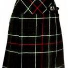 Ladies Knee Length Billie Kilt Mod Skirt, 44 Waist Size Mackenzie Kilt Skirt Tartan Pleated