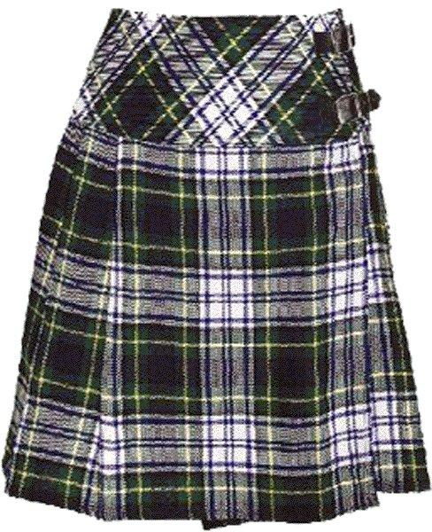Ladies Knee Length Billie Kilt Mod Skirt, 56 Waist Size Dress Gordon Kilt Skirt Tartan Pleated