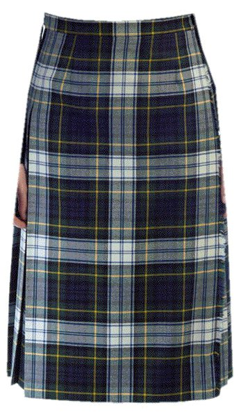 Ladies Full Length Kilted Skirt, 44 Waist Size Dress Gordon Tartan Pleated Kilt-Skirt