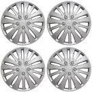 "4 Pc of 16"" Inch Silver Hub Caps Full Lug Skin Rim Cover for OEM Steel Wheel"