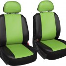 Faux Leather Green Seat Cover for Jeep Wrangler w/Steering Wheel/Belt/Head Rests