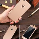 New iPhone 6 Gold Luxury Hybrid Tempered Glass Acrylic Hard Case Cover