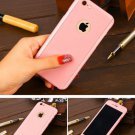 New iPhone 6 Pink Luxury Hybrid Tempered Glass Acrylic Hard Case Cover