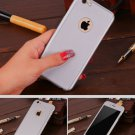 New iPhone 6 Silver Luxury Hybrid Tempered Glass Acrylic Hard Case Cover