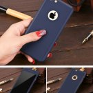 New iPhone 6 Navy Blue Luxury Hybrid Tempered Glass Acrylic Hard Case Cover