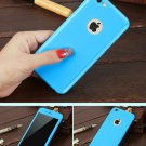 New iPhone 6 Blue Luxury Hybrid Tempered Glass Acrylic Hard Case Cover