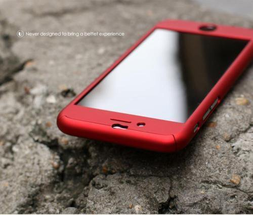 New iPhone 6 Red Luxury Hybrid Tempered Glass Acrylic Hard Case Cover