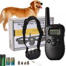 New Goplus Pet Dog Training Collar 300YD Waterproof Rechargeable 100 Level Shock Remote LCD