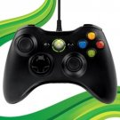 Official Microsoft Xbox 360 & PC Black Glossy Wired Controller S9F-00001 OEM VG