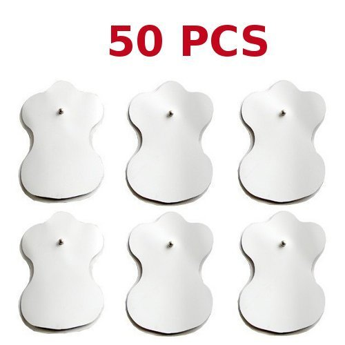 50 Self-adhesive Electrode Pads 3.5mm Studs for Tens Machines and Muscle Stimulators