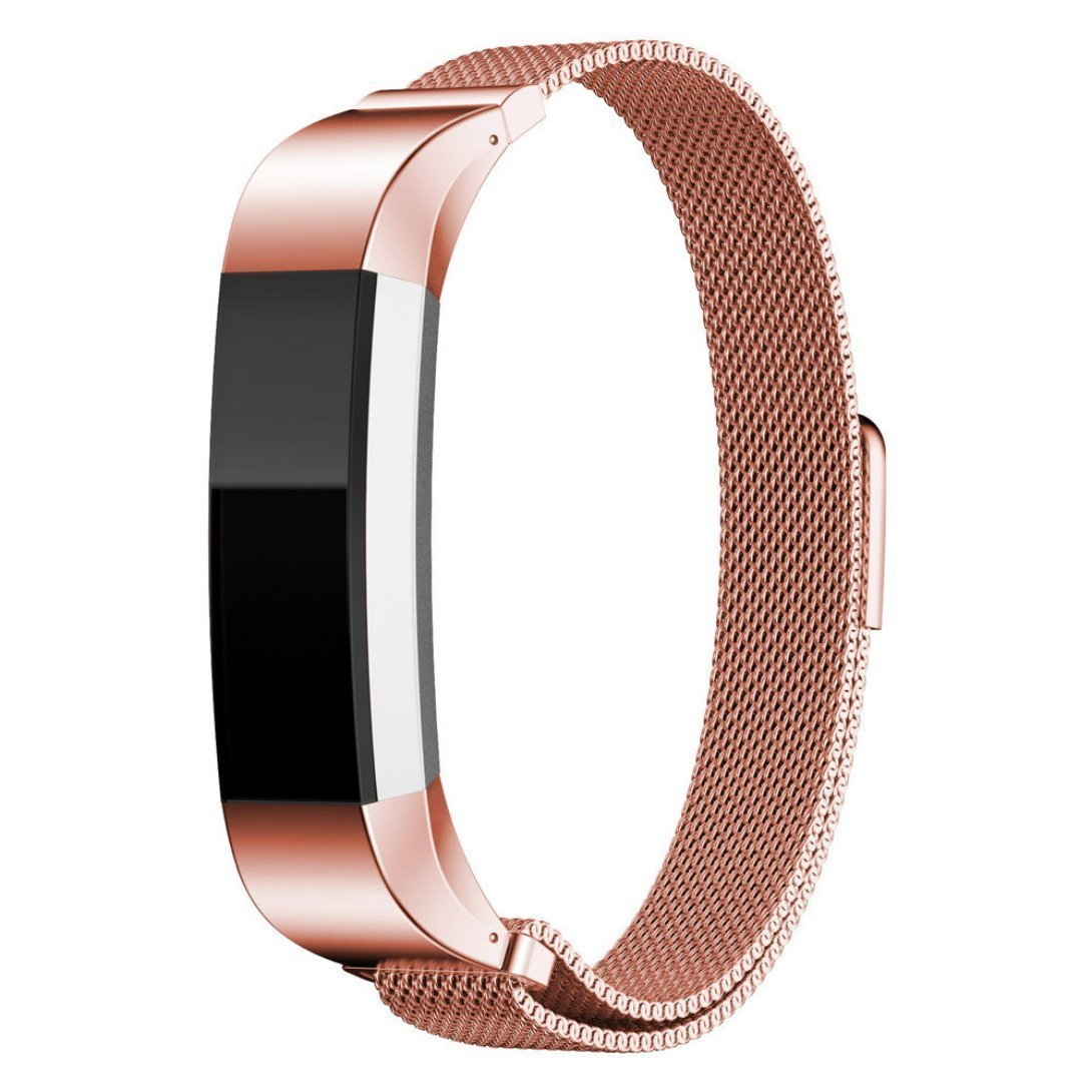 Stainless Steel Replacement Milanese Mesh Band with Metal band Clasp for Fitbit Alta