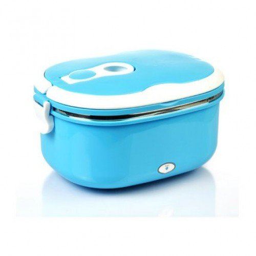 Electric Lunch Box with Stainless Steel Liner Sealed Bento Lunch Box Containers for Warming Meals