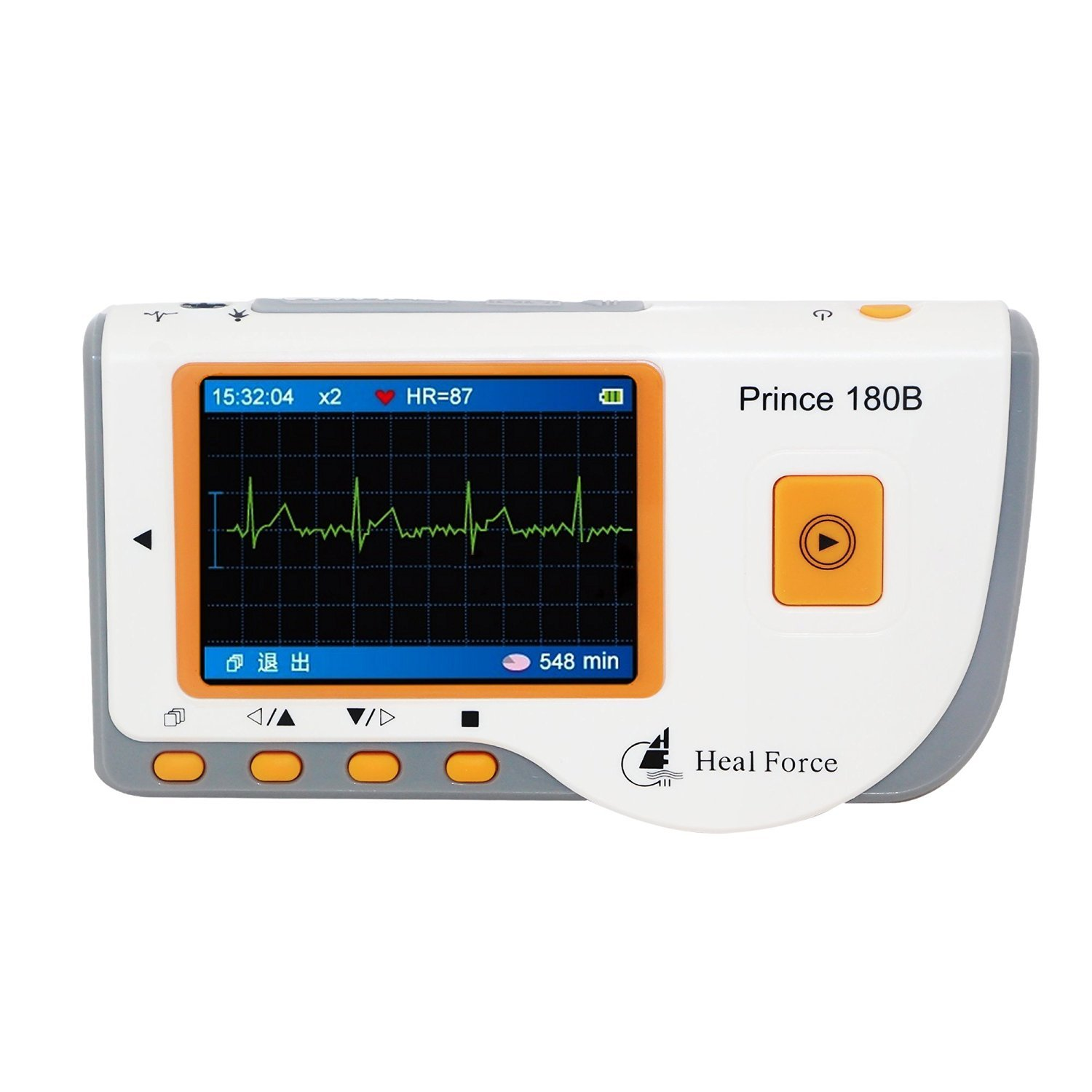 Heal Force Portable ECG Monitor, Model Prince 180B (FDA and CE Certified)